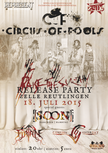 Circus of Fools - RAISE THE CURTAIN Release Show + [soon] | Firtan | Confined by Yesterday